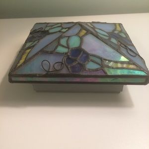 Stained glass post cap